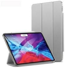 Voor iPad Pro 12.9 (2020) ESR Yippee Color Seires PU Horizontale Flip Lederen Case met Hasp & Holder & Sleep / Wake-up Functie(Silver Grey)