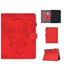 Voor iPad 2 3 4 Olifantenpatroon Horizontaal Flip PU Lederen hoes met slaapfunctie & magnetic buckle & bracket en kaartsleuf(Rood)