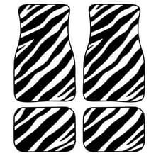 4 in 1 Zebra Stripe Universal Printing Auto Auto Vloermatten Set  Style:HN1252