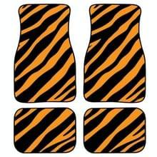 4 in 1 Zebra Stripe Universal Printing Auto Auto Vloermatten Set  Style:HN1256