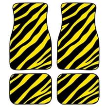 4 in 1 Zebra Stripe Universal Printing Auto Auto Vloermatten Set  Style:HN1258