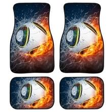 4 in 1 Patroon Universal Printing Auto Car Floor Mats Set  Style:HXA347GP