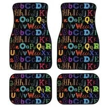 4 in 1 Patroon Universal Printing Auto Car Floor Mats Set  Style:HX253GP