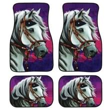 4 in 1 Patroon Universal Printing Auto Car Floor Mats Set  Style:HX603GP
