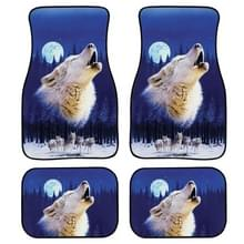 4 in 1 Starry Animal Patroon Universal Printing Auto Car Floor Mats Set  Style:HN1155GP