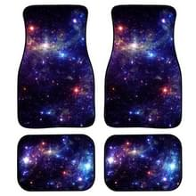 4 in 1 Starry Sky Patroon Universal Printing Auto Car Floor Mats Set  Style:HN1159GP