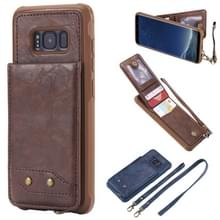 Voor Galaxy S8 Vertical Flip Shockproof Leather Protective Case met Long Rope  Support Card Slots & Bracket & Photo Holder & Wallet Function(?)