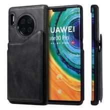 Voor Huawei Mate 30 Pro Shockproof Calf Texture Protective Case met Holder & Card Slots & Frame(Black)