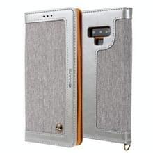 Voor Galaxy Note9 CMai2 Legend of Xingyue Series Denim Texture Horizontal Flip Leather Case met Holder & Card Slots & Photo Frame & Hand Strap(Grijs)