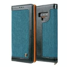 Voor Galaxy Note9 CMai2 Legend of Xingyue Series Denim Texture Horizontal Flip Leather Case met Holder & Card Slots & Photo Frame & Hand Strap(Groen)