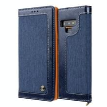 Voor Galaxy Note9 CMai2 Legend of Xingyue Series Denim Texture Horizontal Flip Leather Case met Holder & Card Slots & Photo Frame & Hand Strap(Royal Blue)
