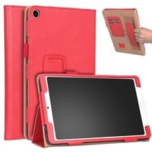 Voor Xiaomi Mi Pad 4 Plus / 10 1 inch 2018 Vintage PU Leather Tablet PC Beschermhoes met Bracket & Hand Support & Card Slots Function(Red)