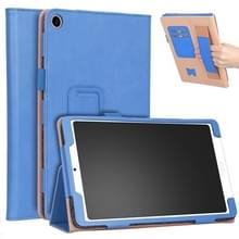 Voor Xiaomi Mi Pad 4 Plus / 10 1 inch 2018 Vintage PU Leather Tablet PC Beschermhoes met Bracket & Hand Support & Card Slots Function(Blauw)