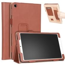 Voor Xiaomi Mi Pad 4 Plus / 10 1 inch 2018 Vintage PU Leather Tablet PC Beschermhoes met Bracket & Hand Support & Card Slots Function(Brown)