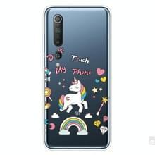 Voor Xiaomi Mi 10 Pro 5G Schokbestendig geschilderd transparante TPU beschermhoes (Eenhoorn)