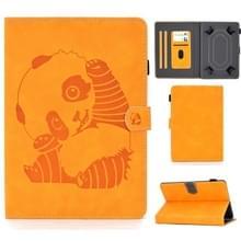 Voor 10 inch Embossing Naaidraad Horizontaal Geschilderd e-mes met penhoes & Anti Skid Strip & Card Slot & Holder(Khaki)