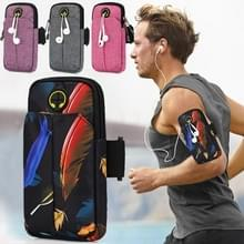 Universal 6.2 inch or Under Phone Zipper Double Bag Multi-functional Sport Arm Case with Earphone Hole (Feather Black) Universal 6.2 inch or Under Phone Zipper Double Bag Multi-functional Sport Arm Case with Earphone Hole (Feather Black) Universal 6.2 inc