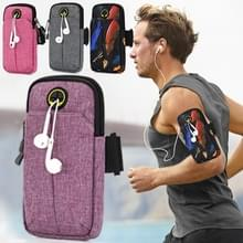Universal 6.2 inch or Under Phone Zipper Double Bag Multi-functional Sport Arm Case with Earphone Hole (Purple) Universal 6.2 inch or Under Phone Zipper Double Bag Multi-functional Sport Arm Case with Earphone Hole (Purple) Universal 6.2 inch or Under Pho