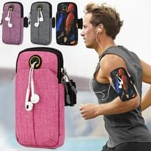 Universal 6.2 inch or Under Phone Zipper Double Bag Multi-functional Sport Arm Case with Earphone Hole (Pink) Universal 6.2 inch or Under Phone Zipper Double Bag Multi-functional Sport Arm Case with Earphone Hole (Pink) Universal 6.2 inch or Under Phone Z