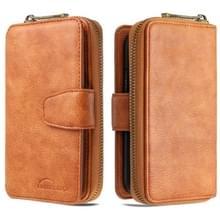 Voor Galaxy S20 Ultra afneembare multifunctionele horizontale lederen behuizing met kaartsleuven & Zipper Wallet & Photo Frame(Brown)