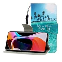 Voor Xiaomi 10 / 10 Pro Gekleurde tekening horizontale flip lederen hoes met Houder & Card Slot & Wallet (Coconut Tree)