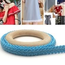 WG000312 Polyester Zijden Duizendpoot Vorm Lace Belt DIY Kleding Accessoires  Lengte: 25m  Breedte: 1 2 cm (Sky Blue)