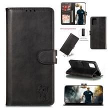 Voor Huawei P40 Pro In reliëf Happy Cat Patroon Horizontale Flip Lederen Hoes met Houder & Card Slots & Wallet(Zwart)