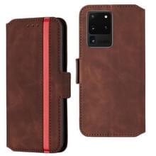Voor Galaxy S20 Ultra Vintage Matte Oil-edge Horizontal Flip Leather Case met Bracket & Card Slots(Wine Red)