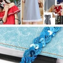 ZP0003015 Wave Shape Sequins Lace Belt DIY Kleding Accessoires  Lengte: 25m  Breedte: 1 5 cm (Blauw)