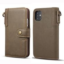 Voor Galaxy S20 Ultra Cowhide Texture Horizontal Flip Leather Case met Holder & Card Slots & Wallet & Lanyard(Coffee)