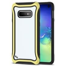 Voor Galaxy S10e Blade Series Transparante AcrylProtective Case(Geel)