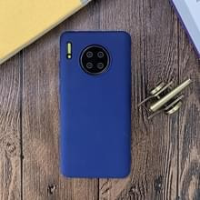 Voor Huawei Mate 30 Shockproof Frosted TPU Beschermhoes (Donkerblauw)
