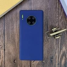 Voor Huawei Mate 30 Pro Shockproof Frosted TPU Beschermhoes (Donkerblauw)