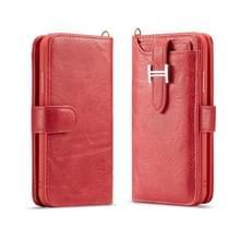 Voor Galaxy Note9 Elegant Series H-type Buckle Horizontal Flip Leather Case met Card Slots & Wallet & Photo Frame(Red)