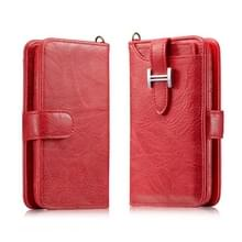 Voor Galaxy S8 Elegant Series H-type Buckle Horizontal Flip Leather Case met Card Slots & Wallet & Photo Frame(Red)