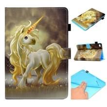 Voor iPad Mini 1 / 2 / 3 / 4 / 5 Painted Horizontal Flat Leather Case met Sleep Functie & Card Slot & Buckle Anti-slip Strip & Wallet(Unicorn)