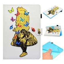 Voor iPad Mini 1 / 2 / 3 / 4 / 5 Painted Horizontal Flat Leather Case met Sleep Functie & Card Slot & Buckle Anti-slip Strip & Bracket & Wallet(Girl)