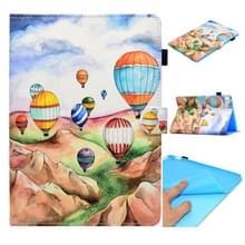 Voor iPad Pro 9 7 inch Gespoten horizontale platte leren behuizing met slaapfunctie & kaartslot & gesp antispad Strip & Bracket & Wallet(Ballon)