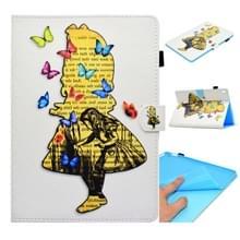 Voor iPad Pro 9 7 inch Gespoten horizontale platte leren hoes met slaapfunctie & kaartslot & gesp anti-slip Strip & Bracket & Wallet(Girl)