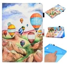Voor Galaxy Tab A 8.0 (2015) T350 Painted Horizontal Flat Leather Case with Sleep Function & Card Slot & Buckle Anti-skid Strip & Bracket & Wallet(Balloon)