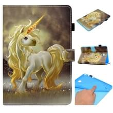 Voor Galaxy Tab A 8.0 (2015) T350 Painted Horizontal Flat Leather Case with Sleep Function & Card Slot & Buckle Anti-skid Strip & Bracket & Wallet(Unicorn)