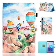 Voor Galaxy Tab S6 T860 Painted Horizontal Flat Leather Case with Sleep Function & Card Slot & Buckle Anti-skid Strip & Bracket & Wallet(Balloon)