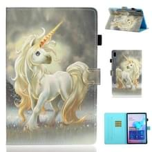 Voor Galaxy Tab S6 T860 Painted Horizontal Flat Leather Case with Sleep Function & Card Slot & Buckle Anti-skid Strip & Bracket & Wallet(Unicorn)