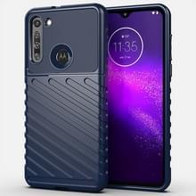 Voor Motorola Moto G8 Thunderbolt Schokbestendige TPU Soft Case(Blauw)
