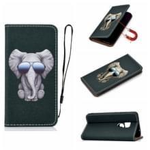 Voor Huawei Mate 20 3D Painting Horizontale Flip Lederen Kast met Holder & Card Slot & Lanyard(Elephant)