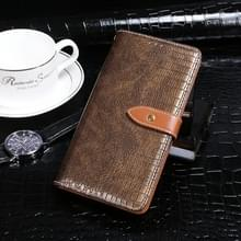 Voor Lenovo A6 Note idewei Crocodile Texture Horizontale Flip Lederen Case met Holder & Card Slots & Wallet(Coffee)