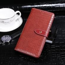 Voor Coolpad Legacy idewei Crocodile Texture Horizontale Flip Lederen Case met Holder & Card Slots & Wallet(Red)