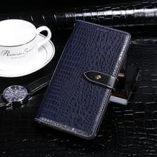 Voor Coolpad Legacy idewei Crocodile Texture Horizontale Flip Lederen Case met Holder & Card Slots & Wallet (Donkerblauw)