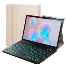 DY-M10P Voor Lenovo Smart Tab M10 HPD Plus TB-X606F 10 3 inch 2 in 1 Verwijderbaar Magnetisch ABS Bluetooth-toetsenbord + Beschermlederhoes met stand & slaap / Wake-up & Penhouder(Goud)