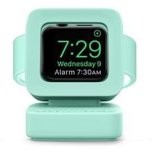 Voor Apple Watch 44/42/40/38mm Retro Watch StandHouder (Mintgroen)